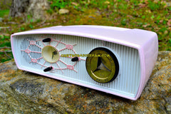 JUDY Jetson Pink Mid Century Retro Antique 1957 Philips Model B1C12U AM Tube Clock Radio Totally Restored and Rare As Can Be!