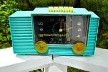 Load image into Gallery viewer, SOLD! - Dec 8, 2017 - TURQUOISE Mid-Century Retro Vintage 1959 Philco Model G755-124 AM Tube Clock Radio Totally Restored! - [product_type} - Philco - Retro Radio Farm