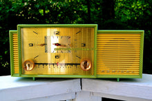Load image into Gallery viewer, SOLD! - Oct 9, 2017 - MINT GREEN Mid Century Retro Vintage 1959 Admiral 298 Tube AM Clock Radio Sounds Great!
