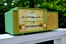 Load image into Gallery viewer, SOLD! - Oct 9, 2017 - MINT GREEN Mid Century Retro Vintage 1959 Admiral 298 Tube AM Clock Radio Sounds Great! - [product_type} - Admiral - Retro Radio Farm