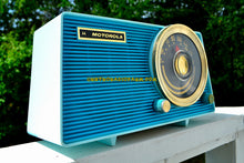 Load image into Gallery viewer, SOLD! - Dec 19, 2017 - POSEIDON BLUE Mid Century Vintage 1963 Motorola Model A18B49 AM Tube Radio Excellent Condition! - [product_type} - Motorola - Retro Radio Farm