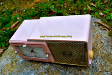 Load image into Gallery viewer, SOLD! - May 4, 2017 - FIFTH AVENUE PINK Mid Century Retro Jetsons 1957 Bulova Model 120 Tube AM Clock Radio Excellent Condition! - [product_type} - Bulova - Retro Radio Farm