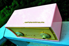 Load image into Gallery viewer, SOLD! - Sept 6, 2017 - BLUETOOTH MP3 READY - BUBBLE GUM Pink Vintage 1955 Admiral Model 244 AM Tube Radio Works Great! - [product_type} - Admiral - Retro Radio Farm