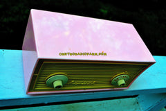 SOLD! - Sept 6, 2017 - BLUETOOTH MP3 READY - BUBBLE GUM Pink Vintage 1955 Admiral Model 244 AM Tube Radio Works Great!
