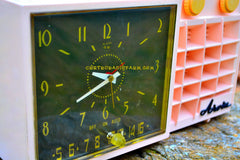 SOLD! - Mar 7, 2018 - BLUETOOTH MP3 READY - POWDER Pink Mid Century Retro Jetsons 1957 Arvin 5561 Tube AM Clock Radio Works Great!