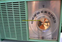 Load image into Gallery viewer, SOLD! - Aug 19, 2017 - BLUETOOTH MP3 READY SEA GREEN 1959 General Electric Model T-129C Tube Radio - [product_type} - General Electric - Retro Radio Farm