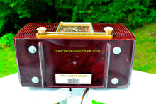 Load image into Gallery viewer, SOLD! - Aug 13, 2017 - BLUETOOTH MP3 READY Elegant Burgundy 1955 General Electric Model 551 Retro AM Clock Radio Works Great! - [product_type} - General Electric - Retro Radio Farm