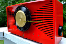 Load image into Gallery viewer, SOLD! - Sept 17, 2017 - MATADOR RED Mid Century Vintage 1955 Emerson Model 812B Tube AM Clock Radio Rare Color Sounds Great! - [product_type} - Emerson - Retro Radio Farm