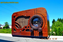 SOLD! - July 19, 2014 - ART DECO Wood Retro Vintage Antique 1937 Airline 62-245 AM Tube Radio WORKS! , Vintage Radio - Airline, Retro Radio Farm  - 2