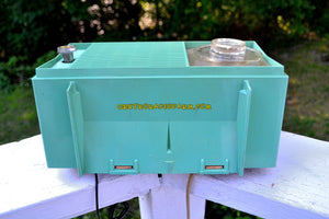 SOLD! - Aug 19, 2017 - BLUETOOTH MP3 READY SEA GREEN 1959 General Electric Model T-129C Tube Radio - [product_type} - General Electric - Retro Radio Farm