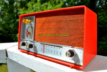 Load image into Gallery viewer, SOLD! - Nov 18, 2017 - CLEMENTINE ORANGE Mid Century Vintage 1960s Heathkit Model GR-38 AM Solid State Radio Impossible Rare Color Industrial Quality! - [product_type} - Heathkit - Retro Radio Farm
