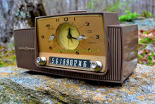 Load image into Gallery viewer, SOLD! - Aug 1, 2017 - WALNUT BROWN Mid Century Jetsons 1958 General Electric Model C415 Tube AM Clock Radio Works Great! - [product_type} - General Electric - Retro Radio Farm