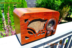 SOLD! - July 19, 2014 - ART DECO Wood Retro Vintage Antique 1937 Airline 62-245 AM Tube Radio WORKS! , Vintage Radio - Airline, Retro Radio Farm  - 9