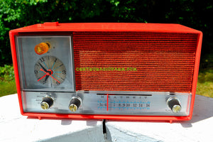SOLD! - Nov 18, 2017 - CLEMENTINE ORANGE Mid Century Vintage 1960s Heathkit Model GR-38 AM Solid State Radio Impossible Rare Color Industrial Quality! - [product_type} - Heathkit - Retro Radio Farm