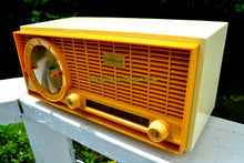 Load image into Gallery viewer, SOLD! - Sept 23, 2017 - MUSTARD Yellow Mid Century Vintage 1961 Travler 63C301 AM Tube Radio Pristine and Rare As Can Be! - [product_type} - Travler - Retro Radio Farm
