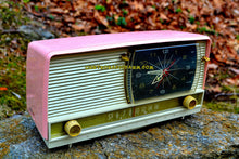 Load image into Gallery viewer, SOLD! - Apr 29, 2017 - BEAUTIFUL Powder Pink And White Retro Jetsons 1958 RCA Victor 9-C-71 Tube AM Clock Radio Works Great! - [product_type} - RCA Victor - Retro Radio Farm