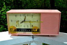 Load image into Gallery viewer, SOLD! - May 8, 2017 - DAISY PINK Mid-Century Retro Vintage 1959 Philco Model F-762-124 AM Tube Clock Radio Totally Restored! - [product_type} - Philco - Retro Radio Farm