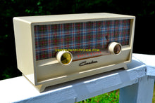 Load image into Gallery viewer, SOLD! - Dec 24, 2017 -  MAD FOR PLAID Ivory 1954 Capehart Model T-54 AM Tube Radio Totally Restored! - [product_type} - Capehart - Retro Radio Farm