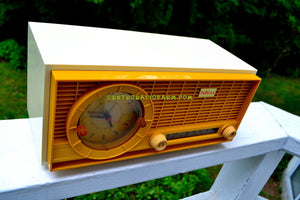 SOLD! - Sept 23, 2017 - MUSTARD Yellow Mid Century Vintage 1961 Travler 63C301 AM Tube Radio Pristine and Rare As Can Be!