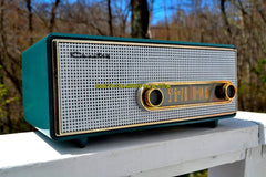 SHERWOOD GREEN Mid Century Retro Antique Vintage 1959 Crosley Ranchero T-60 AM Tube Radio Quality Construction Sounds Great!