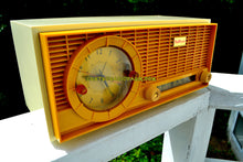 Load image into Gallery viewer, SOLD! - Sept 23, 2017 - MUSTARD Yellow Mid Century Vintage 1961 Travler 63C301 AM Tube Radio Pristine and Rare As Can Be!