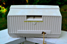 Load image into Gallery viewer, SOLD! - Aug 13, 2017 - AQUA AND WHITE Atomic Age Vintage 1959 RCA Victor Model X-4HE Tube AM Radio Near Mint and Shiny! - [product_type} - RCA Victor - Retro Radio Farm