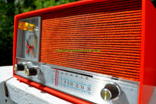 Load image into Gallery viewer, SOLD! - Nov 18, 2017 - CLEMENTINE ORANGE Mid Century Vintage 1960s Heathkit Model GR-38 AM Solid State Radio Impossible Rare Color Industrial Quality!