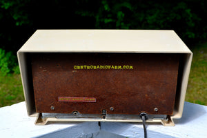 SOLD! - Dec 24, 2017 -  MAD FOR PLAID Ivory 1954 Capehart Model T-54 AM Tube Radio Totally Restored! - [product_type} - Capehart - Retro Radio Farm