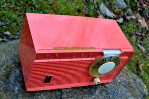 SOLD! - July 21, 2017 - BLUETOOTH MP3 READY - Salmon Pink Retro Mid Century Jetsons Vintage 1958 Philco E-814-124 AM Tube Radio Sounds Great! - [product_type} - Philco - Retro Radio Farm