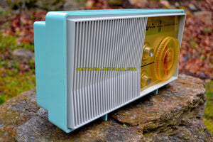 SOLD! - Dec. 18, 2017 - BLUETOOTH MP3 READY - AM FM TURQUOISE Retro Mid Century Jetsons Vintage 1962 Arvin Model 31R26 Tube Radio Amazing! - [product_type} - Arvin - Retro Radio Farm