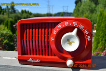 Load image into Gallery viewer, SOLD! - Aug 1, 2014 - CARDINAL RED Art Deco Retro Vintage 1952 Majestic AM Tube AM Radio WORKS! - [product_type} - Admiral - Retro Radio Farm