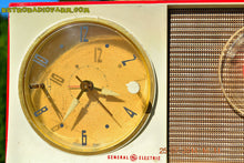 Load image into Gallery viewer, SOLD! - Oct 12, 2014 - CORVETTE RED AND WHITE Retro Jetsons Late 50's early 60's General Electric GE Tube AM Clock Radio WORKS! , Vintage Radio - General Electric, Retro Radio Farm  - 9