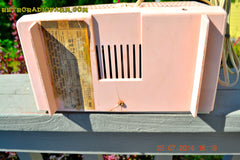 SOLD! - Oct 21, 2014 - PINK AND WHITE Atomic Age Vintage 1959 RCA Victor Model X-2EF Tube AM Radio WORKS! , Vintage Radio - RCA Victor, Retro Radio Farm  - 3