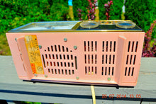 Load image into Gallery viewer, SOLD! - Nov 26, 2014 - PRINCESS Pink Retro Jetsons 1962 Bulova Model 180 Tube AM Clock Radio WORKS! , Vintage Radio - Bulova, Retro Radio Farm  - 7