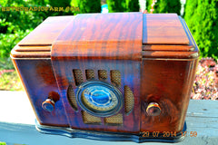 SOLD! - Sept 17, 2015 - BEAUTIFUL Wood Art Deco Retro 1930's or 1940's Western Air Patrol AM Tube Radio Works! Wow! , Vintage Radio - Western Air Patrol, Retro Radio Farm  - 2