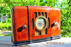 SOLD! - Sept 17, 2015 - BEAUTIFUL Wood Art Deco Retro 1930's or 1940's Western Air Patrol AM Tube Radio Works! Wow! , Vintage Radio - Western Air Patrol, Retro Radio Farm  - 3