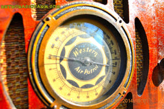 SOLD! - Sept 17, 2015 - BEAUTIFUL Wood Art Deco Retro 1930's or 1940's Western Air Patrol AM Tube Radio Works! Wow! , Vintage Radio - Western Air Patrol, Retro Radio Farm  - 6