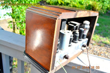 Load image into Gallery viewer, SOLD! - Sept 17, 2015 - BEAUTIFUL Wood Art Deco Retro 1930's or 1940's Western Air Patrol AM Tube Radio Works! Wow! - [product_type} - Western Air Patrol - Retro Radio Farm