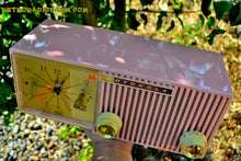 Load image into Gallery viewer, SOLD! - Dec 27, 2014 - PRETTY IN PINK Retro Jetsons 1956 Motorola 57CF Tube AM Clock Radio WORKS! - [product_type} - Motorola - Retro Radio Farm