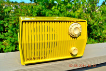 Load image into Gallery viewer, SOLD! - Sept 7, 2014 - BUTTER YELLOW Retro Jetsons Vintage 1959 Admiral 4L26A Tube AM Radio WORKS! , Vintage Radio - Admiral, Retro Radio Farm  - 4