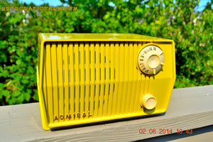 SOLD! - Sept 7, 2014 - BUTTER YELLOW Retro Jetsons Vintage 1959 Admiral 4L26A Tube AM Radio WORKS! , Vintage Radio - Admiral, Retro Radio Farm  - 4