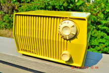 Load image into Gallery viewer, SOLD! - Sept 7, 2014 - BUTTER YELLOW Retro Jetsons Vintage 1959 Admiral 4L26A Tube AM Radio WORKS! , Vintage Radio - Admiral, Retro Radio Farm  - 5
