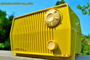 SOLD! - Sept 7, 2014 - BUTTER YELLOW Retro Jetsons Vintage 1959 Admiral 4L26A Tube AM Radio WORKS! , Vintage Radio - Admiral, Retro Radio Farm  - 2
