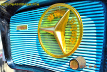 Load image into Gallery viewer, SOLD! - Aug 9, 2014 - SO JETSONS LOOKING Retro Vintage AQUA and BLACK Travler T-204 AM Tube Radio WORKS! - [product_type} - Travler - Retro Radio Farm