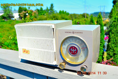 BLUETOOTH MP3 READY - SAHARA TAUPE Retro Vintage 1954 General Electric 477 AM Tube Radio Totally Restored! , Vintage Radio - General Electric, Retro Radio Farm  - 4
