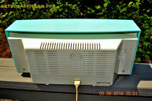 Load image into Gallery viewer, SOLD! - Sept 4, 2014 - RIDICULOUS CLEAN AQUA BLUE Retro Jetsons 1957 Magnavox R5 Tube AM Radio Dual Speaker WORKS! - [product_type} - Magnavox - Retro Radio Farm