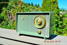 Load image into Gallery viewer, SOLD! - Oct 11, 2014 - OLIVE DRAB Retro Jetsons Vintage 1956 RCA Victor 6-X-5 Tube AM Radio WORKS! , Vintage Radio - RCA Victor, Retro Radio Farm  - 3