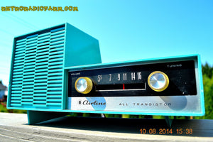 SOLD! - Aug 13, 2014 - Sky Blue SPLIT LEVEL Wacky Looking Retro 1960's or 1970's Wards Airline GEN-1703A AM Works! - [product_type} - Admiral - Retro Radio Farm
