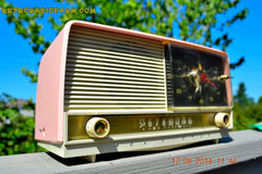 SOLD! - Oct 2, 2014 - POWDER PINK Retro Jetsons 1956 RCA Victor 8-C-7-FE Tube AM Clock Radio WORKS! , Vintage Radio - RCA Victor, Retro Radio Farm  - 3