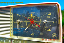 Load image into Gallery viewer, SOLD! - Oct 2, 2014 - POWDER PINK Retro Jetsons 1956 RCA Victor 8-C-7-FE Tube AM Clock Radio WORKS! , Vintage Radio - RCA Victor, Retro Radio Farm  - 9